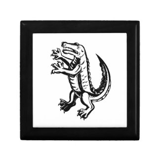 Alligator Standing Scraperboard Gift Box