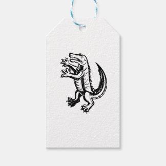 Alligator Standing Scraperboard Gift Tags