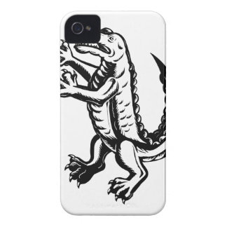 Alligator Standing Scraperboard iPhone 4 Covers