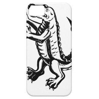 Alligator Standing Scraperboard iPhone 5 Cover