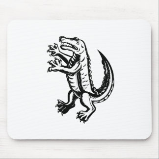 Alligator Standing Scraperboard Mouse Pad