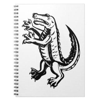 Alligator Standing Scraperboard Notebooks
