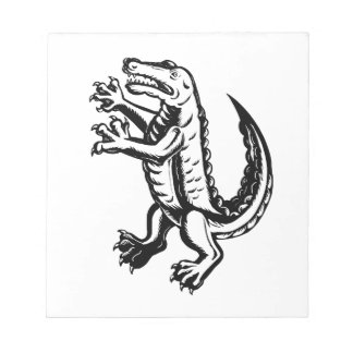 Alligator Standing Scraperboard Notepad