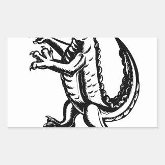 Alligator Standing Scraperboard Sticker