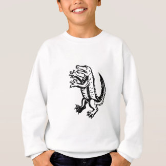 Alligator Standing Scraperboard Sweatshirt