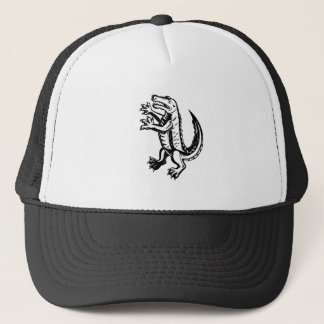 Alligator Standing Scraperboard Trucker Hat