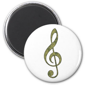 Alligator Treble Clef Magnet