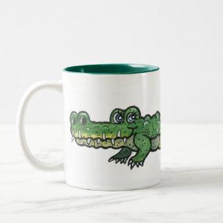 Alligator Two-Tone Coffee Mug
