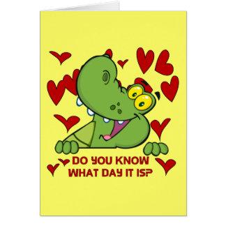 Alligator Valentines Day Card