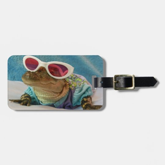 Alligator Wearing Sunglasses Luggage Tags