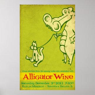 Alligator Wine Katz Reopening Posters