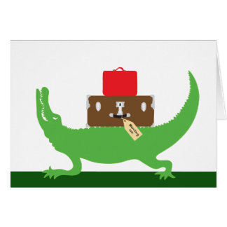 Alligator with Baggage! Card
