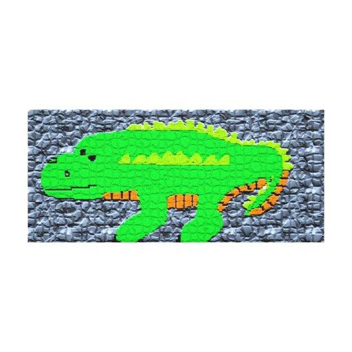 Alligators & Crocodiles Gallery Wrapped Canvas