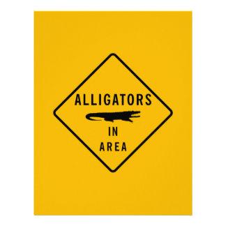 Alligators in Area, Louisiana, USA Letterhead Design