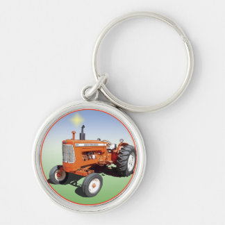 Allis-Chalmers D19 Silver-Colored Round Keychain