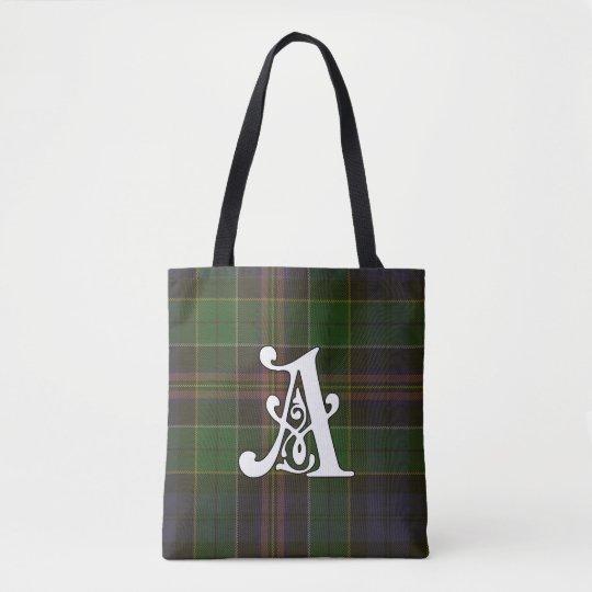 Allison Clan Tartan Monogram Tote Bag