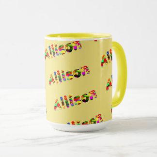 Allison Classic Mug in Yellow