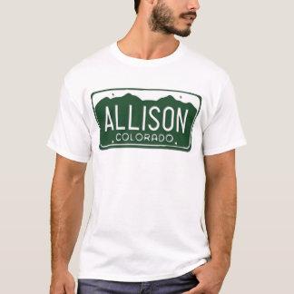 ALLISON Colorado License Plate T-Shirt