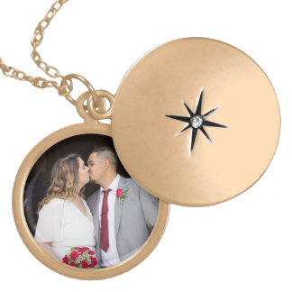 Allison & Edgar's Wedding Locket Necklace