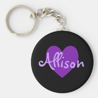 Allison in Purple Keychain