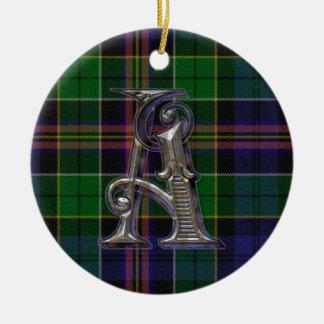 Allison Plaid Monogram ornament