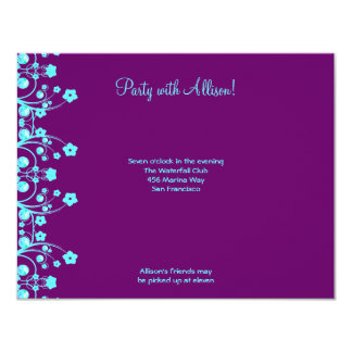 Allison Rachel Flowers & Pearls RSVP Card