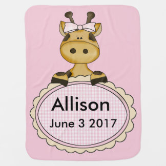 Allison's Personalized Giraffe Baby Blanket