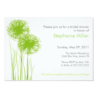 Allium in Grass Shower Invitation
