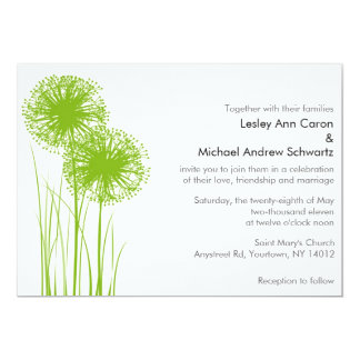 Allium in the Grass Wedding Invitation
