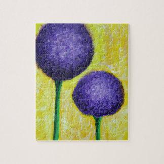 allium purple flower jigsaw puzzle