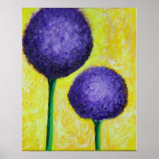 allium purple flower poster