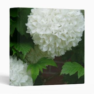 Allium White Round Flowers 3 Ring Binders