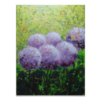 Alliums at Laycock 18inx24in Value Poster Matte