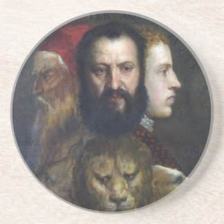Alllegory of Prudence - Titian (Tiziano) Coaster