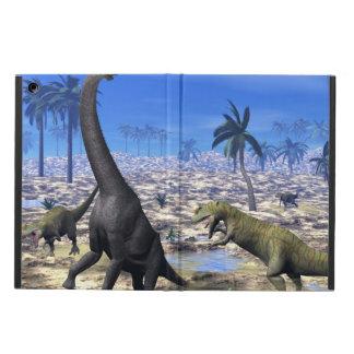 Allosaurus attacking brachiosaurus dinosaur iPad air cover