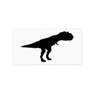 Allosaurus Dino Dinosaur Silhouette Personalized Address Labels