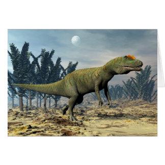 Allosaurus dinosaur - 3D render Card