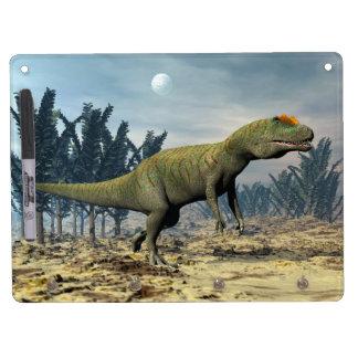 Allosaurus dinosaur - 3D render Dry Erase Board With Keychain Holder