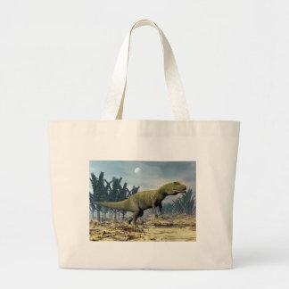 Allosaurus dinosaur - 3D render Large Tote Bag