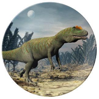 Allosaurus dinosaur - 3D render Plate
