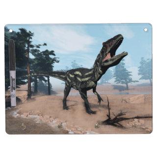 Allosaurus dinosaur roaring - 3D render Dry Erase Board With Keychain Holder