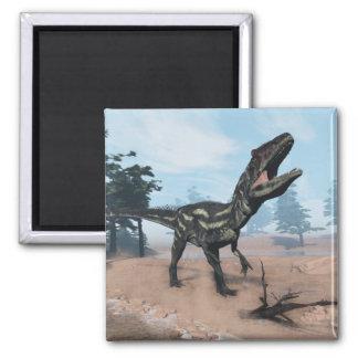Allosaurus dinosaur roaring - 3D render Magnet