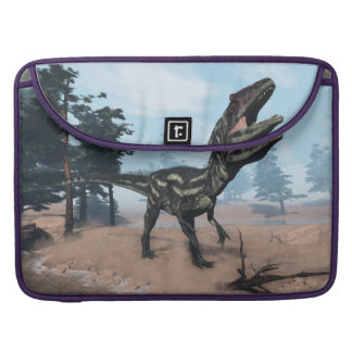Allosaurus dinosaur roaring - 3D render Sleeve For MacBook Pro
