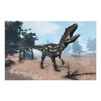 Allosaurus dinosaur roaring - 3D render Stationery
