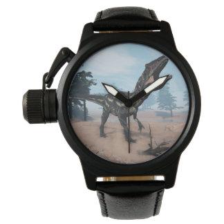 Allosaurus dinosaur roaring - 3D render Wristwatches