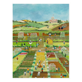 Allotments Postcard