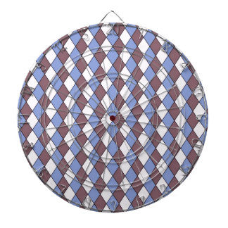 allover graphic dartboard with darts