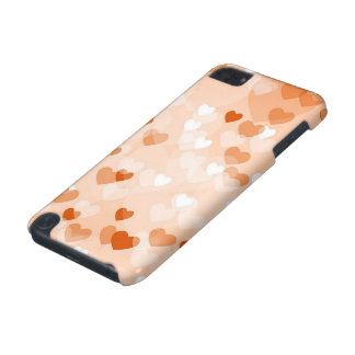 Allover hearts,peach iPod touch 5G cover