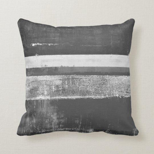 'Alloy' Grey Abstract Art Throw Pillow