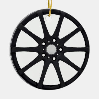 """Alloy Wheel"" gifts and products Ceramic Ornament"